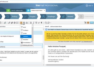 Vorlage erstellen mit inxmail