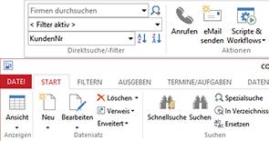 Navigation Adressverwaltungsprogramm
