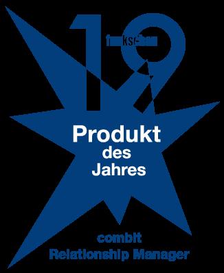 combit CRM ist Produkt des Jahres 2019