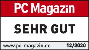 Siegel PC Magazin sehr gut für CRM Software Cloud