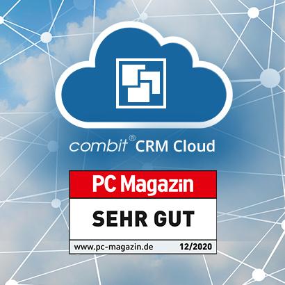 SEHR GUT für combit CRM Cloud