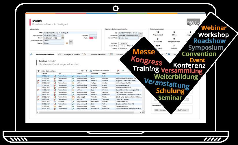 combit Eventmanagement Software