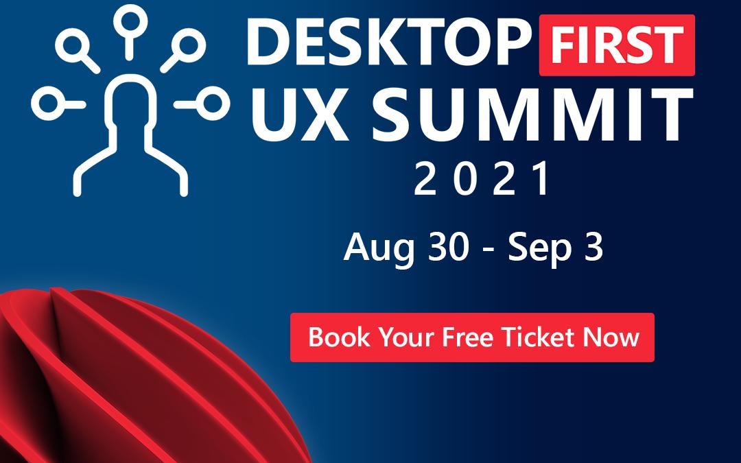 combit sponsert den Desktop-First UX Summit 2021